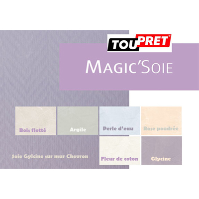 Enduit d coratif magic 39 soie sceau de 12kg s ni color - Enduit decoratif toupret ...