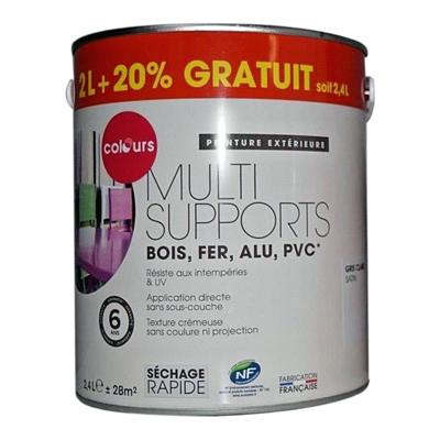 peinture multi-supports bois fer alu pvc 2,4l