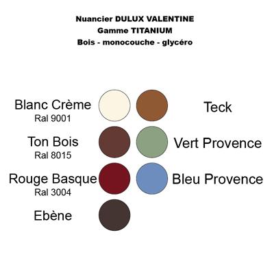 Nuancier Peinture Bois Dulux Valntine Titanuim 2 L